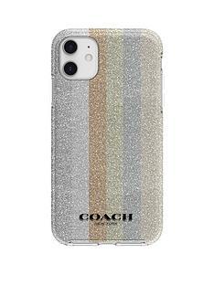 coach-protective-case-for-iphone-11-glitter-americana-neutral-silver-glittergold-glitterrose-gold-glittermulti