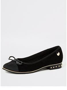 river-island-stud-heel-ballet-shoe-black