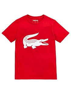 lacoste-sports-boys-short-sleeve-croc-t-shirt-red