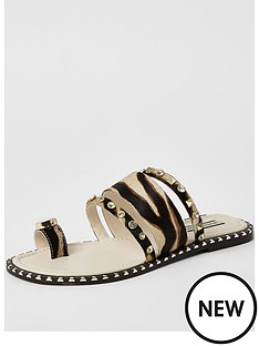 river-island-animal-print-embellished-toe-loop-sandals-brown-print