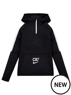 nike-youth-cr7-dri-fitnbspdrill-14-zip-hoodie-black
