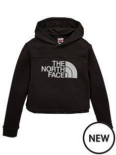 the-north-face-girls-cropped-hoodie-sweatshirt-black
