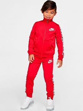 nike-younger-boys-block-taping-tricot-set-red