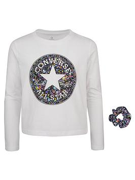 converse-younger-girl-chuck-taylor-patch-print-filled-long-sleeve-tee-andnbspscrunchie-set-white