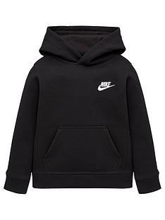 nike-younger-boys-club-fleece-overhead-hoodie-black