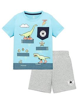 converse-younger-boys-2-piecenbsppocket-short-sleevenbspt-shirt-and-shorts-set-grey