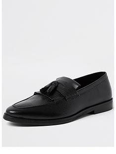 river-island-thames-fringed-tassel-loafer-blacknbsp