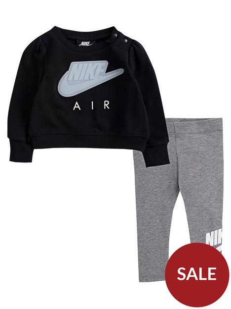 nike-airnbspyounger-girls-2-piecenbspsweatshirtnbspand-leggings-set-grey