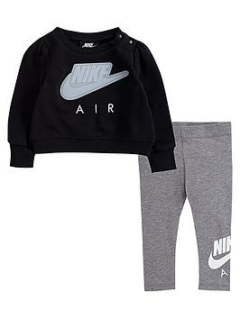 nike-airnbspyounger-girls-2-piecenbspsweatshirtnbspand-leggings-set-grey