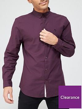 river-island-long-sleeve-oxford-shirt-red