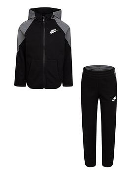 nike-nswnbspyounger-boys-mixed-material-full-zip-set-black
