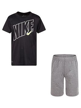 nike-younger-boys-2-piecenbspdri-fit-sport-short-sleeve-t-shirt-and-shorts-set-grey