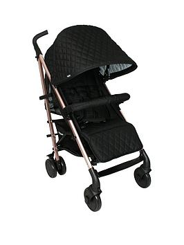 my-babiie-billie-faiers-mb51-rose-gold-black-quilted-stroller