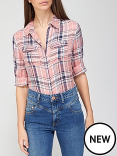 v-by-very-valuenbspchecked-shirt-pink