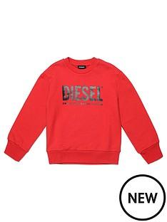 diesel-boys-logo-crew-sweat-top-red