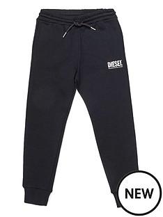 diesel-boys-logo-cuffed-joggers-black
