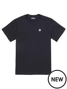 diesel-boys-short-sleeve-badge-logo-t-shirt-black