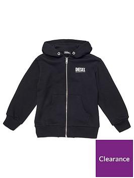 diesel-boys-zip-through-logo-hoodie-black