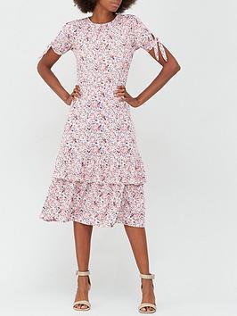 v-by-very-ditsy-tie-sleeve-midi-dress-floral