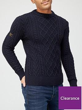 superdry-jacob-cable-crew-neck-knit-jumper-navynbsp