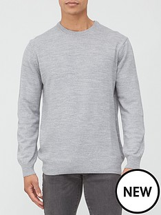 very-man-crew-neck-jumper-grey-marl