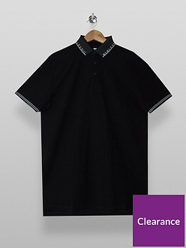 topman-tipped-short-sleeve-polo-t-shirt-black