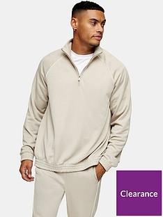 topman-piped-half-zip-sweatshirt--nbspstone