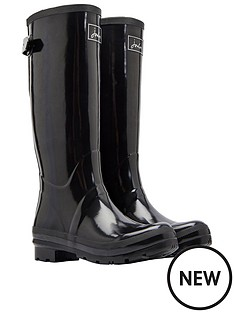joules-field-welly-gloss-black