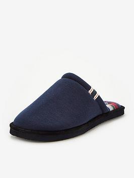 jack-jones-evans-check-lined-slippers-navy