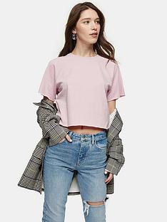 topshop-raglan-crop-tee-pink