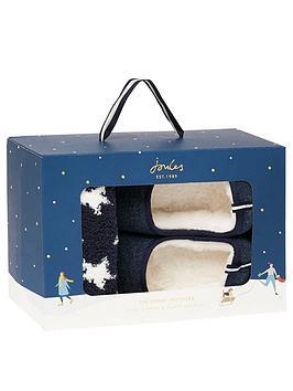 joules-womens-slipper-gift-set-navy