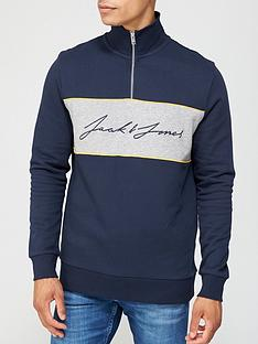jack-jones-jack-jones-colour-block-half-zip-sweat