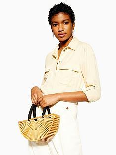 topshop-double-pocket-utility-shirt-buttermilk