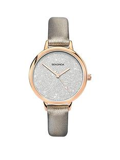sekonda-sekonda-silver-glitter-and-rose-gold-dial-silver-strap-ladies-watch