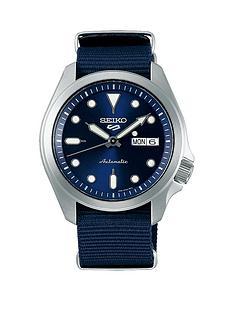 seiko-seiko-blue-sunray-daydate-automatic-dial-blue-nato-strap-mens-watch