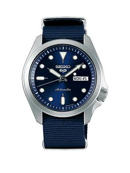 seiko-seiko-blue-sunray-daydate-automatic-dial-blue-nato-strap-mens-watch