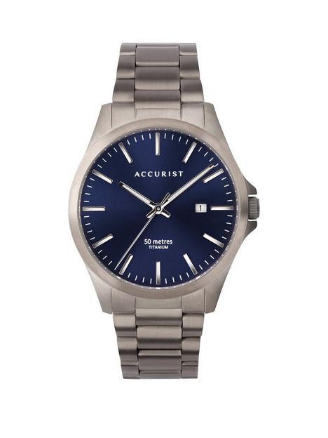 accurist-blue-sunray-date-dial-gunmetal-grey-titanium-bracelet-mens-watch