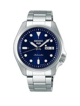 seiko-seiko-blue-sunray-daydate-automatic-dial-stainless-steel-bracelet-mens-watch