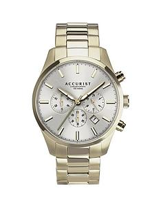 accurist-silver-sunray-chronograph-dial-gold-stainless-steel-bracelet-mens-watch