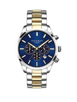 accurist-blue-sunray-and-gold-detail-chronograph-dial-two-tone-stainless-steel-bracelet-mens-watch