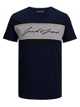 jack-jones-junior-boys-short-sleeve-logo-t-shirt-navy