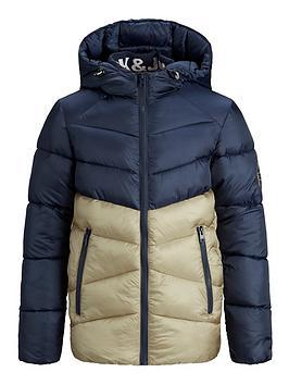 jack-jones-junior-boys-colourblock-hooded-padded-coat-navy-blocked