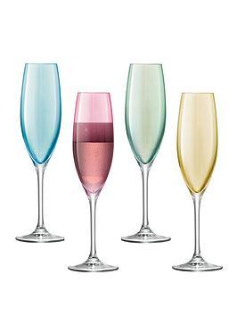 lsa-international-polka-hand-crafted-champagne-flutes-ndash-set-of-4