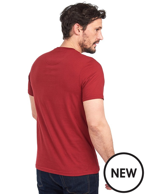 Barbour Reed T Shirt Red Littlewoods Com