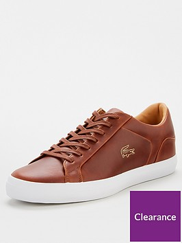 lacoste-lerond-leather-trainers-brown