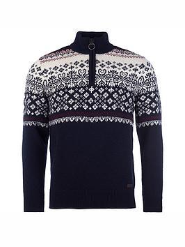 barbour-fairisle-half-zip-sweater-navy