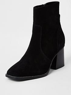 river-island-fauxnbspsuede-block-heel-ankle-boot-black