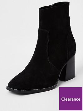 river-island-fauxnbspsuede-block-heel-ankle-boot-black