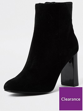 river-island-suede-smart-boot-black