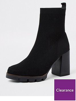 river-island-knitted-chunky-ankle-boot-black